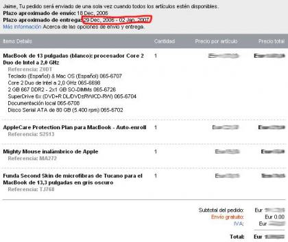 Marchando un MacBook