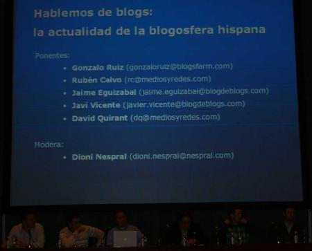 Mesa redonda en el Congreso de Webmasters