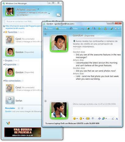 Windows Live Messenger 2009 Windows Live Messenger